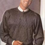 Шелковый вязаный пуловер