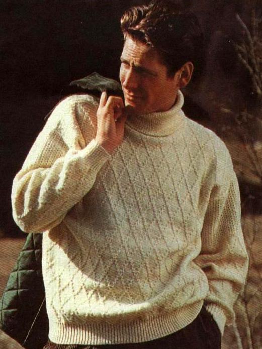 Пуловер с узором «ромбы»