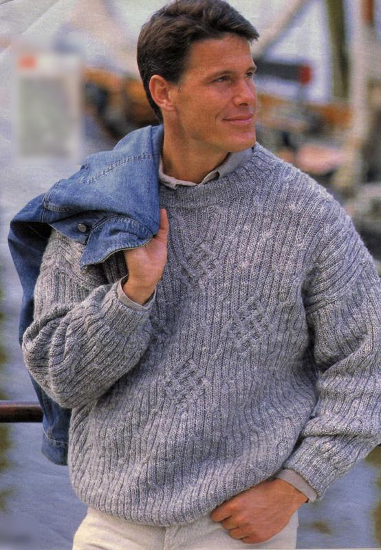 Серо-белый-меланжевый пуловер