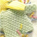 Вязаный пуловер цвета мяты с застежкой на спинке