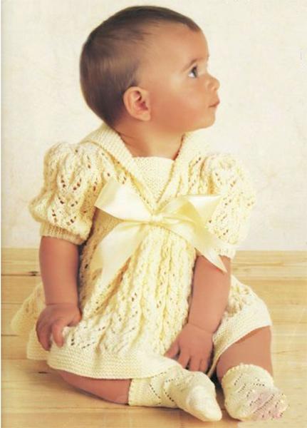 Вязаное платье лимонного цвета