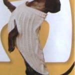 Вязаное пальто для таксы