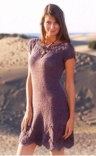 Платье на круговых спицах | Платья вязаные