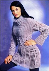 Узорчатое мини-платье