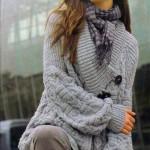 Объёмный рельефный вязанй жакет