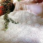 Вязаное покрывало сказочные подсолнухи