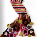 Вязаный шарф дискотека цветов