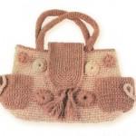 Вязаная сумка с кармашками
