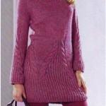 Узорчатое вязаное мини-платье