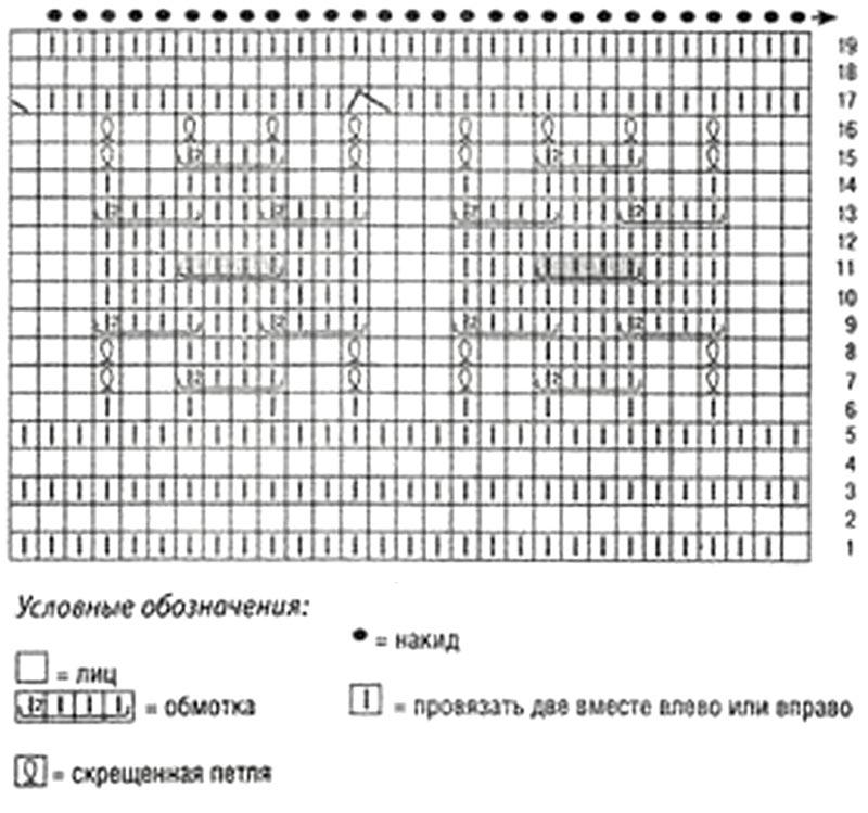 """Белый пуловер с рисунком  """"бабочки """" крючком Материалы: 430 грамм пряжи (100% шерсть) ."""
