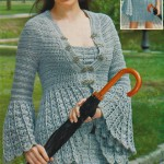 Мини-платье и жакет крючком