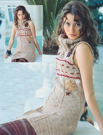 Вязанное платье без швов