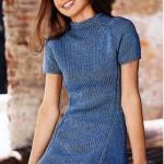 Мини-платье с вытачками