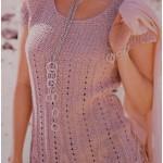 Платье вязаное в стиле ампир