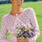 Розовый пуловер с V-образным вырезом