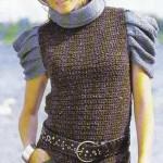 Вязаный пуловер с рукавами в складку