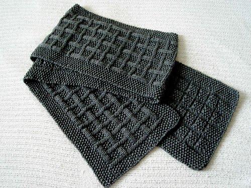 шарф крючком для мужчин