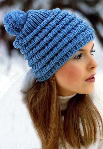 Узоры резинкой для шапок вязание спицами