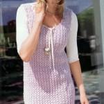 Мини-платье без рукавов и шапочка