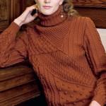 Шикарный вязаный пуловер с фантазийным узором