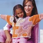 Детский вязаный свитер Пазл