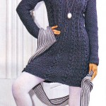 Мини-платье, шапочка и шарф