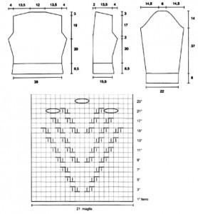 Выкройка и схема узора