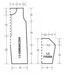 Выкройка вязаного комбинезона