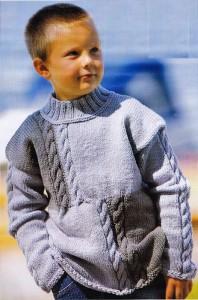 Вязаный свитер джентельмену