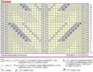 Схема узора жакета
