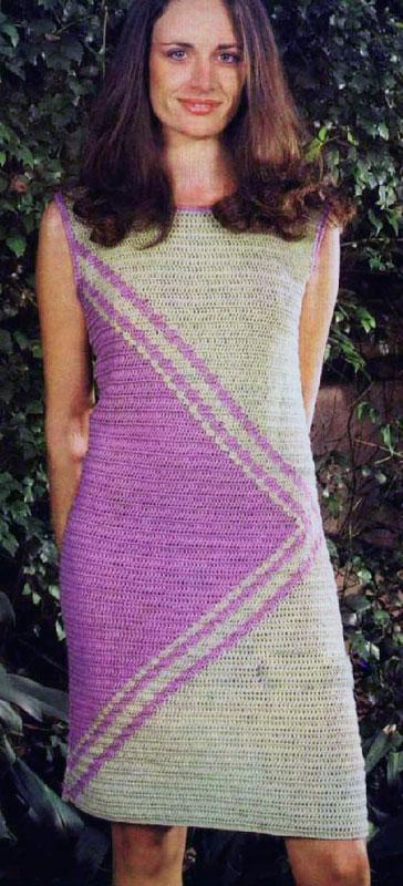 Изысканое вязаное платье