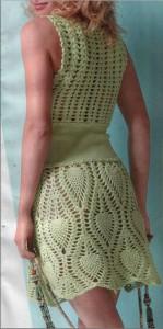 Вязаное платье летняя свежесть