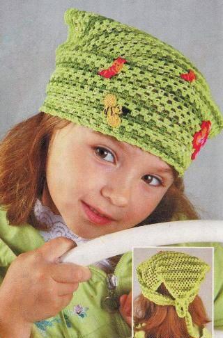 Вязаная косынка для девочки