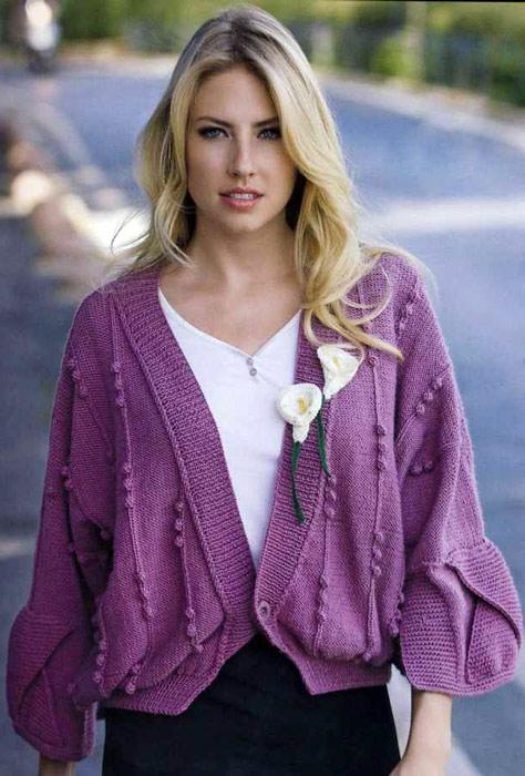 Описание: вязание кардиганов для женщин спицами.