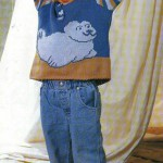 Детский пуловер с тюленем