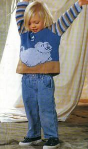 Пуловер с тюленем