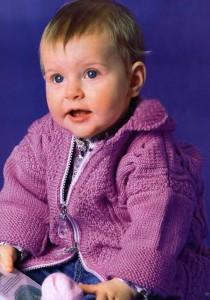 Жакет с капюшоном для новорожденного