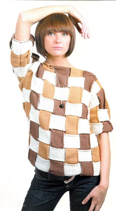 Пуловер Плетенка