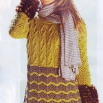 Узорчатый пуловер с рукавами-баллонами