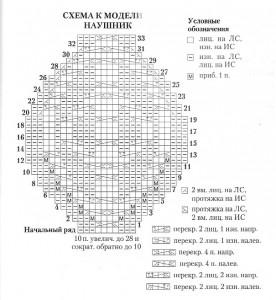 Схема узора шапки-шлема