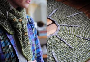 вязаный шарф-платок