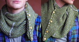 Мужской шарф-платок