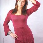 Прекрасное платье брусничного цвета