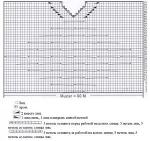 Схема вязания платье труба с плетенкой на груди