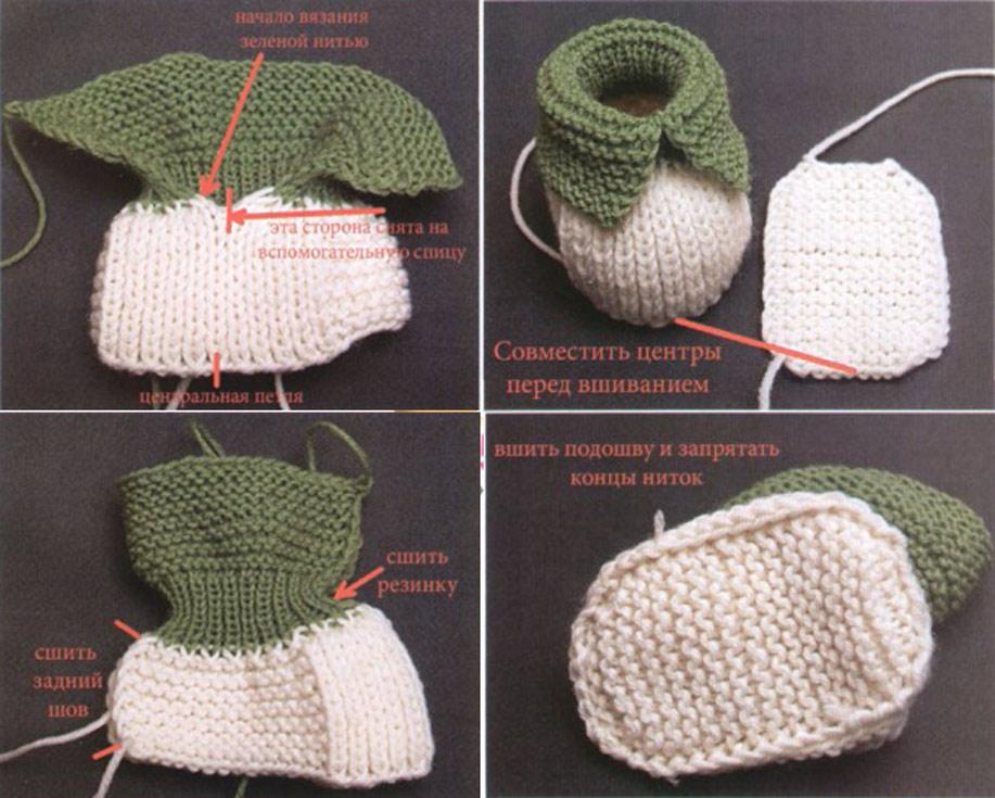 Инструкция вязания пинеток