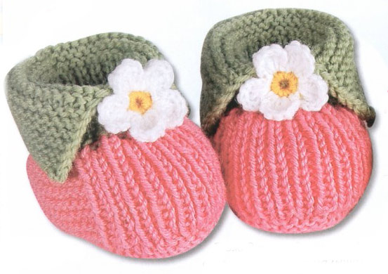 Как связать носки для новорожденных спицами