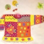 Разноцветная кофточка с цветами для детей
