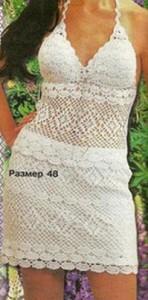 Вязаный крючком летний топ и юбка