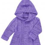 Вязаный жакет-пальто для девочек