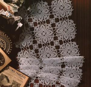 Вязание скатертей из мотивов